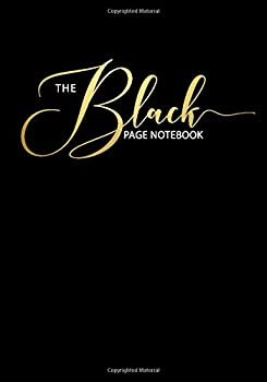 The Black Page Notebook  College Ruled Notebook/Journal