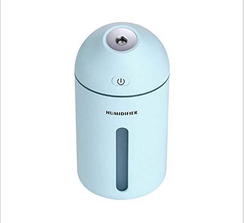 YNHNI 320ml purificador de Aire humidificador for el hogar del Coche aromaterapia Esencial difusor humidificador Humificador con luz LED (Color : Blue)