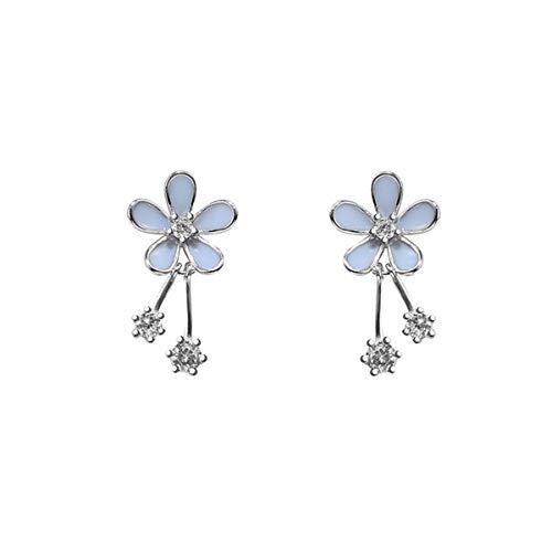 SLUYNZ Pendientes de plata de ley 925 con diseño de margaritas para mujeres, adolescentes, niñas, bonitos pendientes de flores