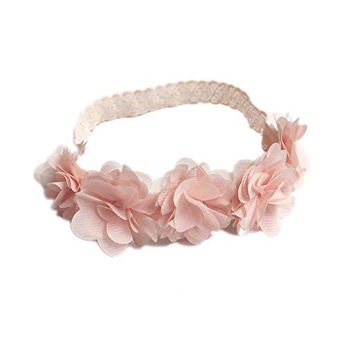 F-blue Kinder Neugeborene Kleinkind-Baby-Blumen-Stirnband-Rosa-Band-Band Neugeborene Spitze Haarbänder Handgemachte DIY Kopfbedeckung Kopf Zubehör