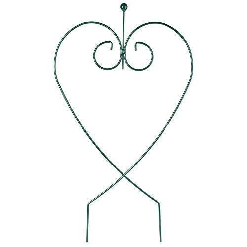 KADAX Rankhilfe, Herz, Stahl pulverbeschichtet, Kletterhilfe für Garten, Pflanzen, Rosen, Blumenhalter, Pflanzenstütze, Blumenstütze, Rankgitter, freistehende Deko, wetterfest