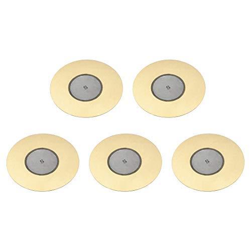 5 Stück Piezo-elektrische Schallplatten 50 mm Akustik Pick-Up Transdutor aus Keramik Trigger Buzzer Schlagzeug Gitarre