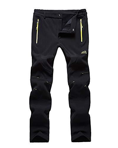 LiangZhu Unisex Dick Warm Verdicken Trekkinghose Outdoorhose Skihose Softshellhose Regenhose Snowboardhose Schwarzer Mann M