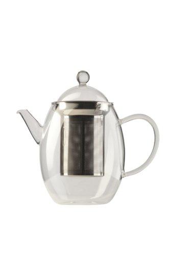 Teekanne Glas 1,3l mit Edelstahlfilter ø165x195mm