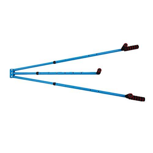 YYDE 3 Bar Entrenamiento Estiramiento Máquina De Estiramiento De La Pierna Adulto Pierna Estiramiento del Ligamento Pesada Pantorrilla Muslo Máquina De Estiramiento Equipo De La Aptitud,Azul