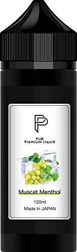 電子タバコ リキッド マスカット メンソール 120ml 国産 プルームテック PloomTECH プラス plus VAPE 大容量 100ml + 20ml増量 たばこ60箱分 ベイプリキッド国産 PLM
