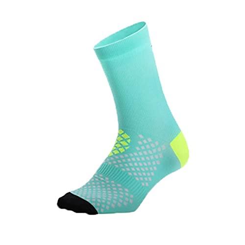BING FENG Calcetines de Ciclismo Profesional Transpirable Running Socks Athletic Socks Tobillo Deporte y protección Calcetines para Hombres Mujeres (Color : Blue, Size : EU39-46)