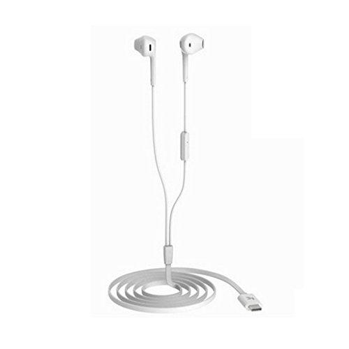 Universal USB Typ C Kopfhörer In Ear Haken Kopfhörer Headset für Smartphone Weiß
