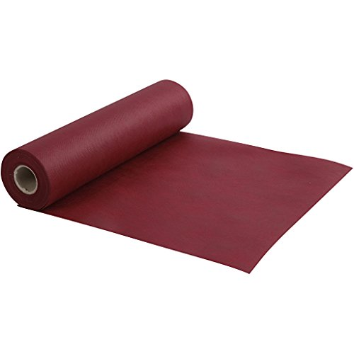 Chemin de table, l: 35 cm, 70 cm, rouge vin, rouge vin, 10m