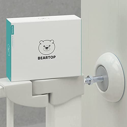 Hochwertiger Wandschutz von BEARTOP | 4,1cm Durchmesser | Treppengitter ohne Bohren & Werkzeug befestigen | für Baby, Kind, Haustier| färbt nicht ab | ZUFRIEDENHEITSGARANTIE...