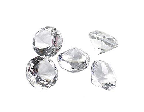 50 Dekosteine Diamanten Ø 20 mm transparent natur klar kristallklar Tischdekoration Streuartikel Hochzeit Taufe
