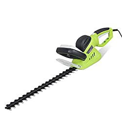 【Powerful Cutting Performance】---600W electric hedge trimmer with a double-acting blade of 510mm length delivers high performance and can easily cut twigs and branches up to 16mm. 【Dual-action Blade】---sharpest cut blades can cut up to 16mm branches ...