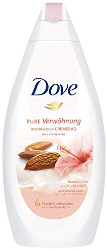 Dove Reichhaltiges Cremebad Pure Verwöhnung Mandelmilch und Hibiskusduft, 750 ml