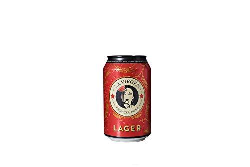 La Virgen Cerveza artesana Lager - pack 24 latas x 330 ml - Total: 7920 ml