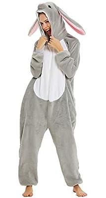 Adultos unisex unicornio Tigre Lion Fox Onesie Animal Pijamas Halloween Carnaval Disfraz Loungewear X-green Hope Unicorn M