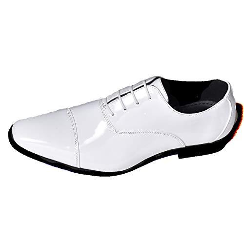ホワイトエナメル 39(24.5cm) スニーカー カジュアルシューズ カジュアル シューズ チャッカブーツ デザートブーツ ワークブーツ ショートブーツ カジュアルブーツ メンズ レースアップシューズ レースアップ 靴 ビジネスシューズ ビジネス シュー