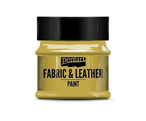 Color Para la industria Textil Y de Cuero Brillante de Oro de 50 ml, Pentart, Colores Clásicos, de Seda