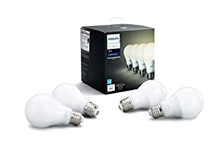 Philips 472027 Hue White A19 60W Equivalent Dimmable Led Smart Bulb (Pack of 4), Soft White (B073SSK6P8) | Amazon price tracker / tracking, Amazon price history charts, Amazon price watches, Amazon price drop alerts