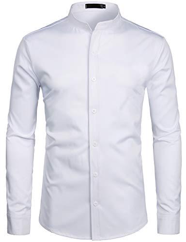 ZEROYAA-Mens-Hipster-Solid-Slim-Fit-Long-Sleeve-Mandarin-Collar-Dress-Shirts