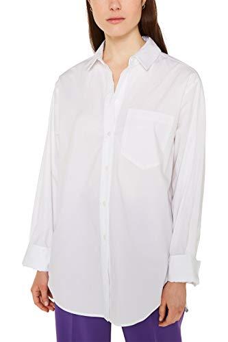 ESPRIT Damen 010EE1F315 Bluse, Weiß (White 100), Small (Herstellergröße: S)