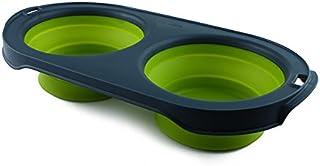 منصة طعام ديكساس بوبوير مزدوجة قابلة للطي للسفر 5 Cup Capacity PW160432383