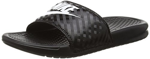 Nike Wmns Benassi JDI, Chanclas para Mujer, Negro (Black/White 011), 38 EU
