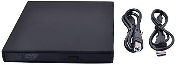 eDealMax PC Portable Nouveau lecteur de CD Portable SATA DVD-ROM Boîtier USB 2.0 Boîtier Externe Noir