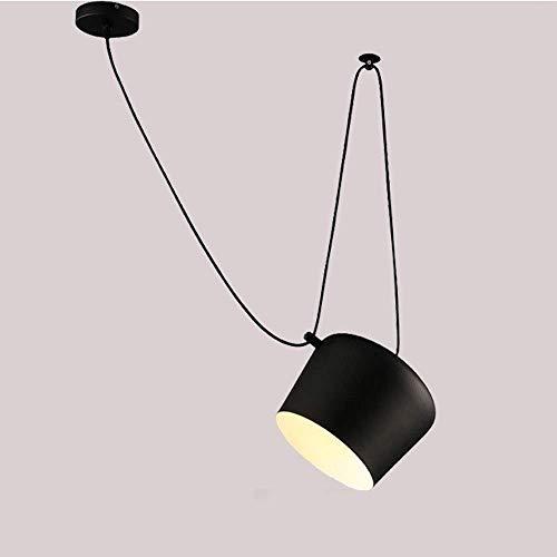GaLon DIY Black hanglampen kroonluchters Nordic Metal Iron verstelbare hanglamp Clothing Store Cafe Decor montage Modern restaurant venster hanglamp snare drum plafondlamp