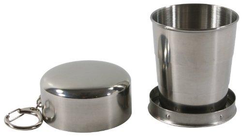 Goodding zusammenfaltbare und tragbare Edelstahl-Tasse für Outdoor, Reise und Camping, 150 ml
