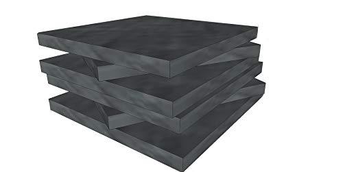 Schaumstoff Platten Set 6 stk je 40x40x3cm Stuhlauflagen, Sitzkissen, Stuhlkissen