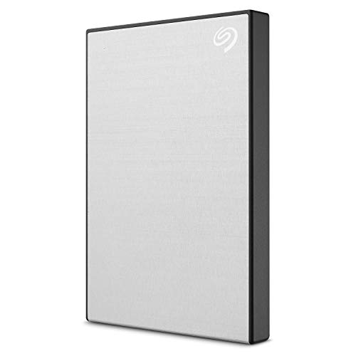 Seagate STHN2000401 Backup Plus Slim 2TB External Hard Drive Portable HDD - Silver USB 3.0 for PC Laptop and Mac, 1 Year Mylio Create, 2 Months Adobe CC Photography
