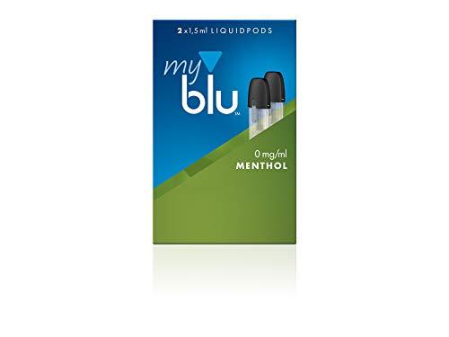 Preisvergleich Produktbild Podpack für elektrische Zigarette myblu + Gratis Soft Touch Pen / je 2 Liquidpods nikotinfrei mit aufregenden Geschmacksrichtung zur Auswahl (Menthol)