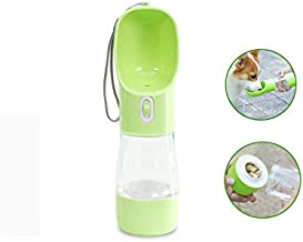 MaoCG Dog Water Bottle for Walking, Multifunctional and Portable Dog Travel Water Dispenser with Food Container,Detachable Design Combo Cup for Drinking and Eating,Suitable for Cats and Puppy Green