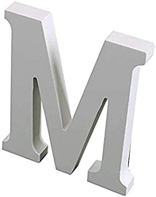 Satyam Kraft Wooden Finishing Alphabet Letters Plaque Wall Decorate Children Education Birthday Party Anniversary, Christmas Party Decoration Colour May Very White to Off White (M)