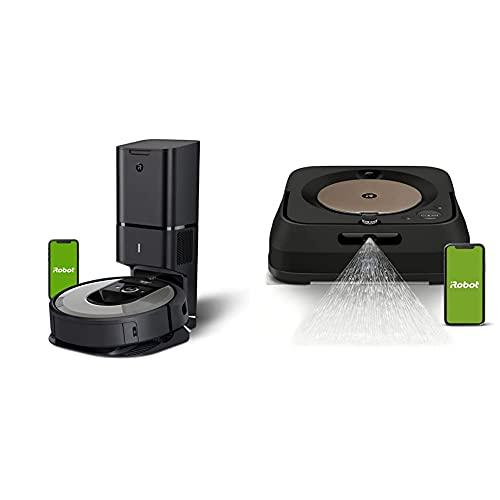 iRobot Roomba i6+ (6550) Robot Vacuum with Automatic Dirt Disposal with iRobot Braava Jet m6 (6012) Ultimate Robot Mop- Wi-Fi Connected