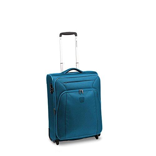 Roncato Tribe Maleta Cabina avión Expansible Verde Azulado, Medida: 55 x 40 x 20/23 cm, Capacidad: 42/48 l, Pesas: 2 kg, Maleta Cabina avión ryanair