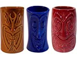 Tiki Shot Glasses 2 Oz. Comes with Brown, Blue, and Red
