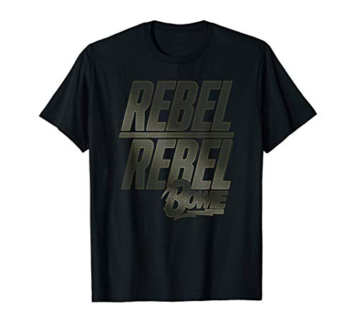 100% Official David Bowie Rebel Rebel T-shirt for Men or Women, S to 3XL