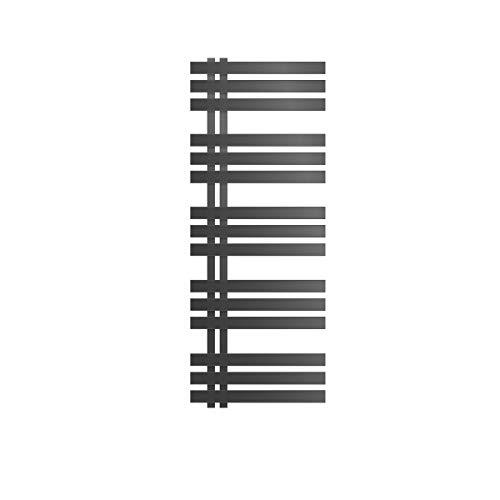 ECD Germany Iron EM Design Radiador toallero de diseño - 500 x 1200 mm - antracita - Secador de toallas - Calentador de toallas - No electrico