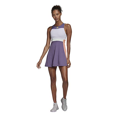 adidas Women's Tennis Y-Dress HEAT.RDY Tech Purple/Shock Yellow X-Small
