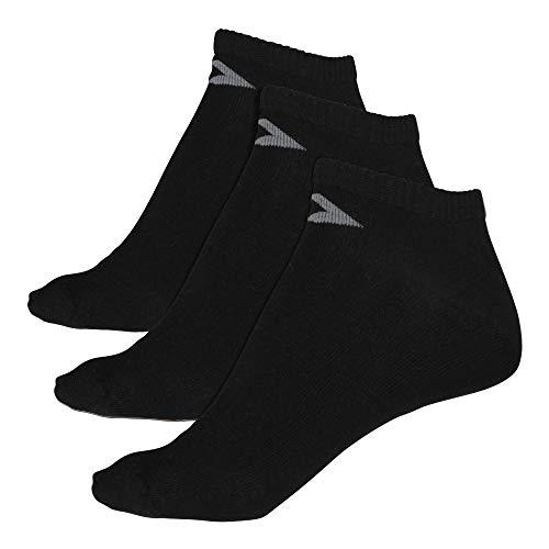 Converse Herren Socken 3-er Pack Basic low cut Füßlinge schwarz, Größe:39-42 EU