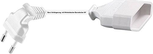 0,25m Euro Verlängerung mit Winkelstecker Eurostecker 90° Kabel weiss