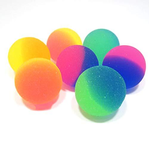 Xinlie Flummis Frost Flummi Frost Flummi Gummiball Flummi Springball Hüpfball Mitgebsel Hüpfball Gummibälle Gummiball Bouncy Ball Tütenfüller Kindergeburtstag Pinata Springball Hüpfbälle (50 Stück)