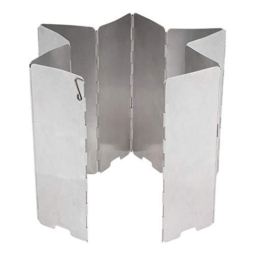 chiwanji Pantalla de Protección contra El Viento de 8 Placas Parabrisas para Cocinar Pantalla para El Viento Picnic de Cocina