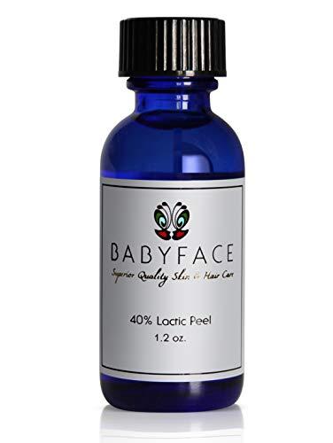 Babyface Professional 40% Lactic Acid Chemical Peel, Unbuffered, Low pH - Large Size 1.2 oz.