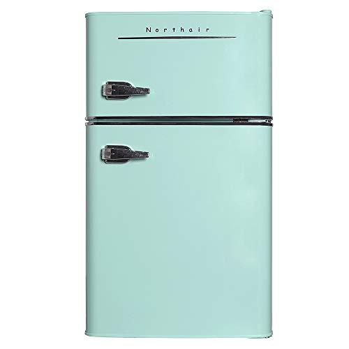 Northair 2-Door Mini Refrigerator with Handle, 3.2 Cubic Feet Capacity Compact Fridge for Dorm,...