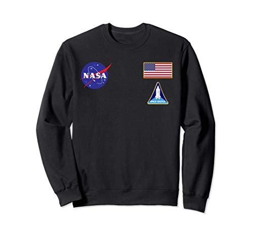 NASA Shirt, Chest Blue Planet Logo Insignia Graphic US Flag Sudadera
