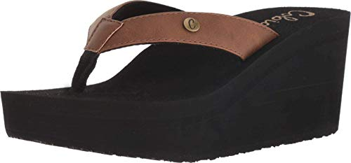Cobian Women's Lanai Brown Wedge, 7