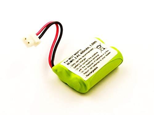 Batería para Motorola MBP11, NiMH, 2,4 V, 400 mAh, 1,0 WH