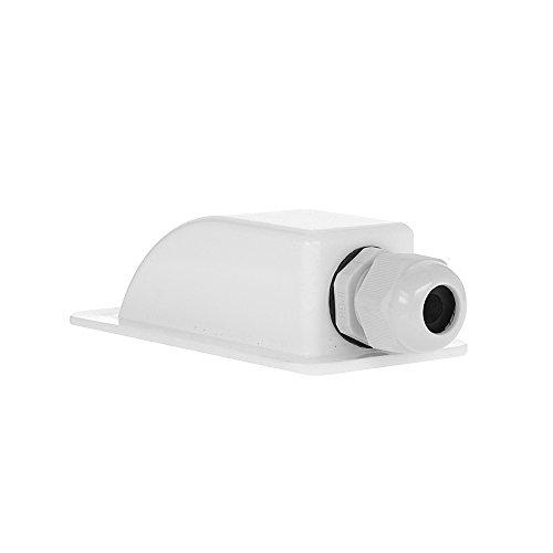 Offgridtec Takgenomföring 1-vägs vit för husbil husbil båt sol kabelgenomföring ABS, 1 st, 006430